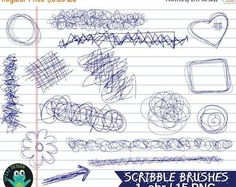 75% OFF SALE Photoshop Scribble Brushes, Photoshop Scribble Brush Set, Photoshop Brushes, Digital Photoshop Brushes - UZPSB859