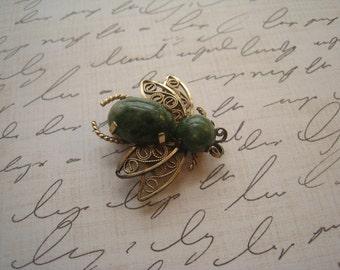 Winard Bumblebee Brooch (12K GF)