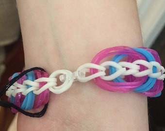 Triple Link Chain Rainbow Loom Bracelet