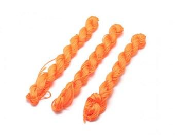 25 m Orange 0.7 mm Nylon thread