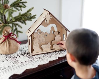 Christmas Nativity Set - by urban forest woodworking
