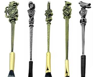 Harry Potter Hogwarts School Badge Make up Brushes Gryffindor/Hufflepuff/Ravenclaw/Slytherin Animal 5pcs Makeup Brush Set Women Girls Gift
