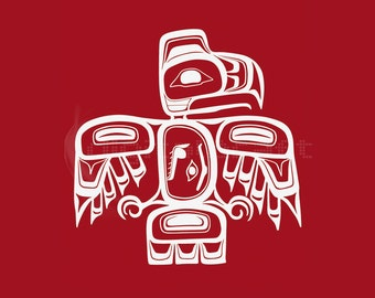 Native Haida designs - Haida Art - Native Art - Indigenous IIlustration - Home Decor - Wall Hanging - Bird Print