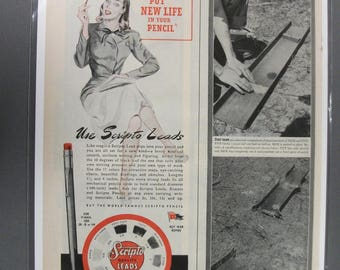 "Off  120     ""  Scripto Leads   ""  Ad - September 1944"