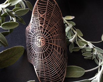 Spider Web Cuff - Etched Copper Cuff - handmade in my Austin Tx Studio - by Jamie Spinello