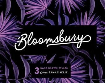 Bloomsbury Typeface - Script, Sans & Serif