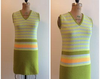 1960s St. John Knits Stripe Mini Dress Vintage 60s