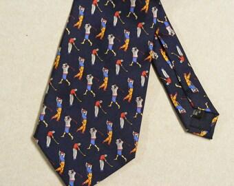 Vintage pure silk necktie