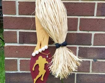 FSU Football Mermaid Wall Hanging: Handmade