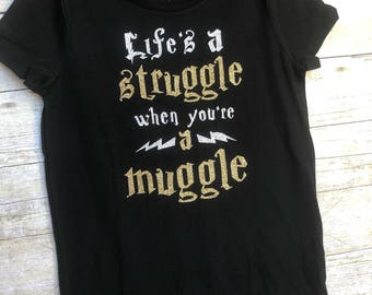 Harry Potter Shirt Muggle Shirt Harry Potter Gift Harry Potter Girl Shirt Harry Potter Birthday Shirt Hogwarts Shirt Harry Potter Boy Shirt