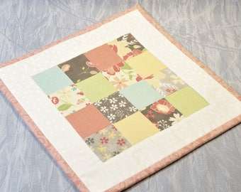 Quilted Candle Mat/Table Topper, Modern Colors