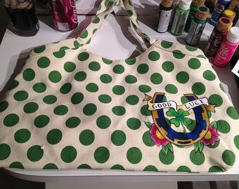 Custom Painted Tote Bag