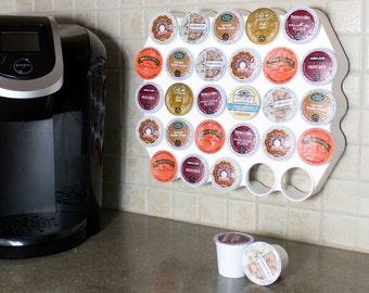 28 Capacity Keurig K-Cup Peel-n-Stick Cafe Wall Caddy (BK008-01)