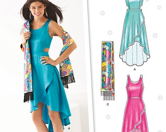 OU of PRINT New Look Pattern 6211 Misses' Dress