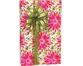 Floral Splash  Gift Wrap Wrapping Paper-18ft Roll w. 20Gift Tags