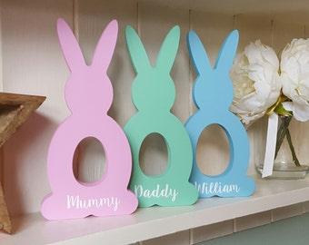 Personalised Easter Bunny, Wooden Easter Bunny, Easter Keepsake, Easter gift, Chocolate Egg, Easter Egg, Children's Easter Gift