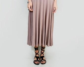 Skirt • Midi Length • Women's Full Skirts • High Waist Skirts • Petite Tall Length • Made in our USA loft • L415 & Co Clothing (#415-103)