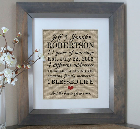 Tenth Year Wedding Anniversary Gift: 10 Year Anniversary Gift For Men 10th Wedding Anniversary