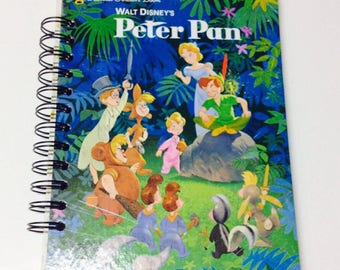 NEW! Disney Peter Pan Repurposed Little Golden Book Planner/Sketchbook/Journal/Autograph Book/Notebook