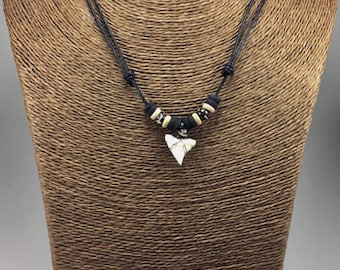 Handmade real shark tooth necklace shark necklace shark real shark tooth necklace tiger shark necklace shark teeth pendant boys mens shark necklace aloadofball Gallery