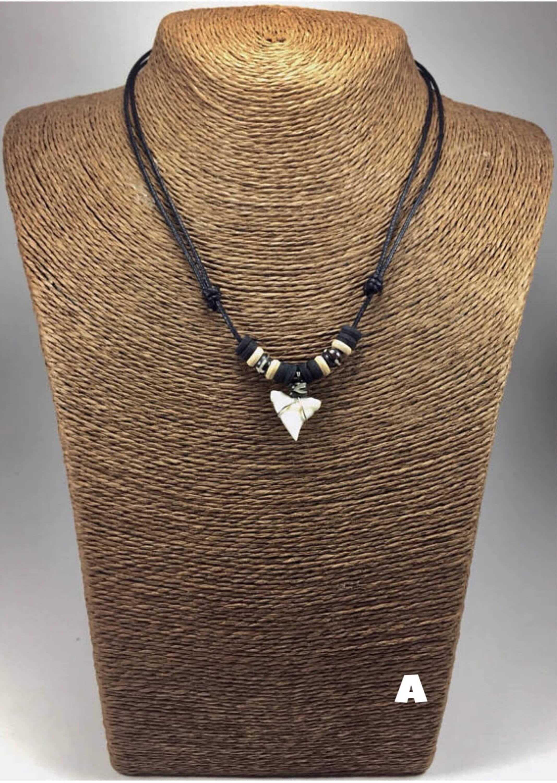Real shark tooth necklace tiger shark necklace shark teeth zoom aloadofball Gallery