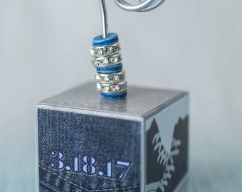 Place Card Holder - Party- Custom Place Card Holder- personalized photo holders- Diamonds to denim -