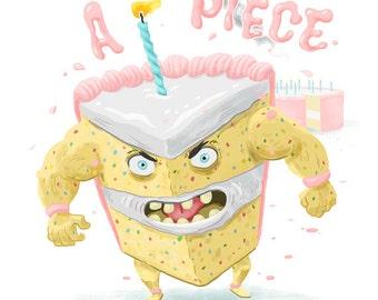 Piece of Cake Blank Greeting Card Digital Download