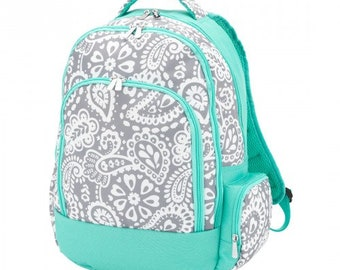Parker Paisley Backpack with FREE Name or Monogram, Back Pack