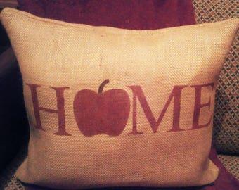 Apple Pillow, Burlap Apple Pillow, Apple Decor, Burlap Apple, Country Primitive Decor, Apple Home Decor, Apples, Primitive Decor