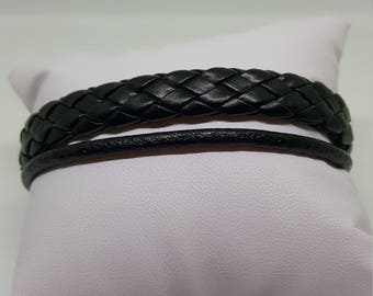 """""""ONLY BLACK"""" leather strap"""