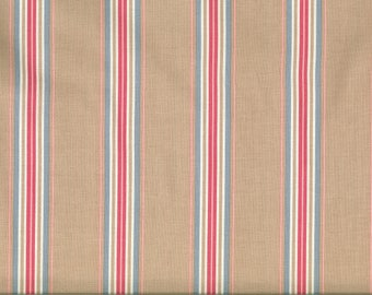 Fabric Gutermann red blue stripes background