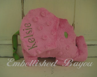 Personalized Stuffed Elephant Soft and Plush Toy for Baby or Dog