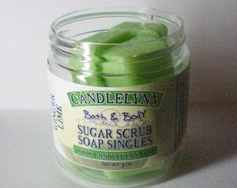 Sugar Scrub Soap Singles - Ginger Lime - 3 oz