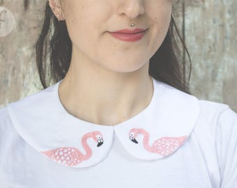 Flamingos Party | Peter Pan Collar