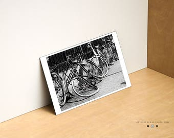 Bend Bicycle, B/W, Amsterdam, Netherlands, Photography, Picture