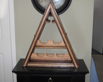 Triangular Shaped Wine Rack