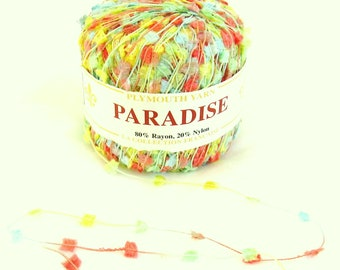 Paradise 20, Plymouth Yarn, novelty yarn, flags, destash