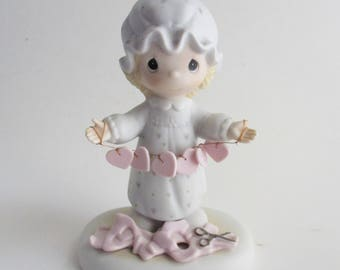 Vintage Precious Moments Figurine You Have Touched So Many Hearts 1983 Collectible