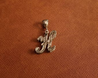 """Sterling silver Intial """"H"""" charm"""