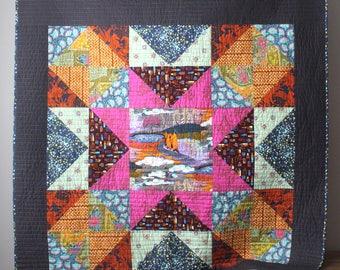 Star Quilt-Modern Lap Quilt- Modern Throw Quilt-Star Lap Quilt- Homemade Quilt-Anna Maria Horner-Bohemian Quilt-Boho Quilt-Boho Home Decor