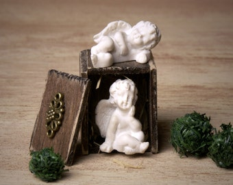 Noble Miniature Cherubs for Your Dollhouse