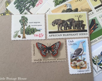 Safari | Vintage Stamps | Unused Postage Stamps | For 5 Letters | 54 Cents