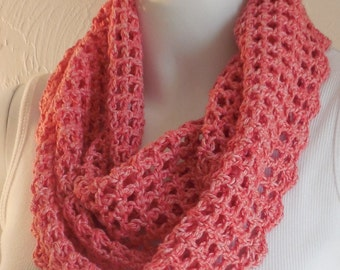 Peachy pink cotton cowl