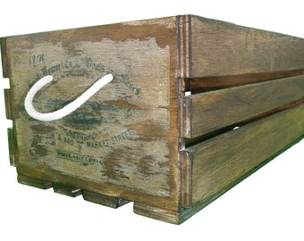 Retro vintage crate replica