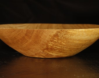 Wooden bowl made of oak wet, hand turned
