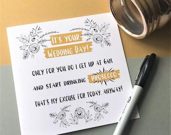 Funny Prosecco Wedding Card, Wedding Card, Funny Wedding Card, Prosecco Card, On Your Wedding Day Card, Rude Wedding Card, Congrats Card
