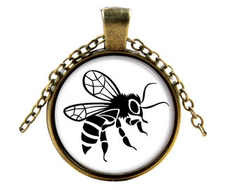 Flying Bee Pendant - Unique Necklace for bee lovers