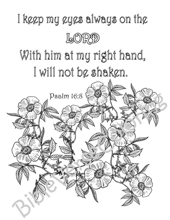 5 pack coloring pages pdf instant download printable bible verse adult coloring inspiration quotes - Psalm 8 Coloring Page