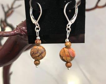 Red Rock Jasper Earrings