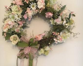 Floral Bird Wreath